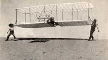 The 1901 Wright Glider Piloted by Wilbur Wright