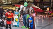 Trick-or-Treaters at Air & Scare at the Udvar-Hazy Center