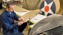 Curtiss R3C-2 Racer in Restoration Shop