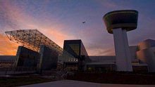 Steven F. Udvar-Hazy Center at Sunset