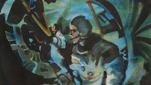 Painting of Two Apollo Astronauts