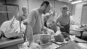 Apollo 14 Crew Examine Lunar Samples