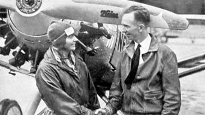 Thea Rasche with US pilot Clarence Chamberlin