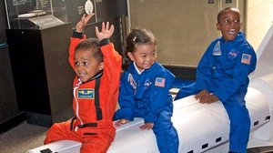 Children enjoying Space Day at the Museum