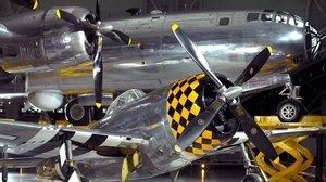Republic P-47D Thunderbolt and Boeing B-29 Superfortress <em>Enola Gay</em>