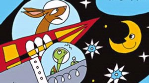 Book Cover: Hare and Tortoise Race to the Moon