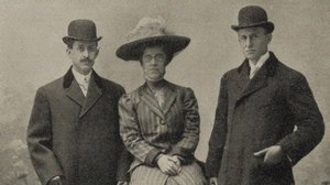 Wilbur, Orville and Katharine Wright