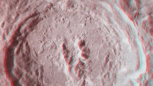 King Crater on the Moon in 3-D