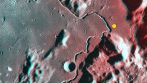 Apennine-Hadley on the Moon in 3-D