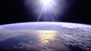 Sun Reflecting on Earth