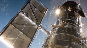 Hubble  Telescope on Mission 4