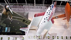 SpaceShipOne in the <em>Boeing Milestones of Flight Hall</em>
