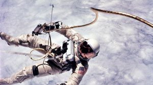 Astronaut Edward White during first EVA performed during Gemini 4 flight