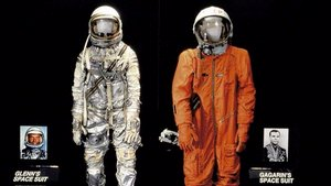 Glenn and Gagarin space suits in Space Race