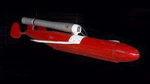 XKD5G-1 Target Drone in McDonnell Space Hangar