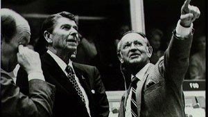 Chris Kraft and President Reagan