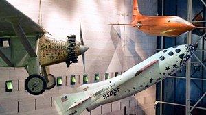 Profile of SpaceShipOne in Boeing Milestones of Flight Hall