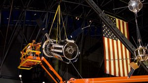Advanced Orbiting Solar Observatory Satellite Hung at Udvar-Hazy Center