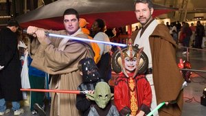 Trick or Treaters Pose with Star Wars Characters at the Udvar-Hazy Center