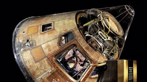 Apollo 11 command module Columbia in the Boeing Milestones of Flight Hall